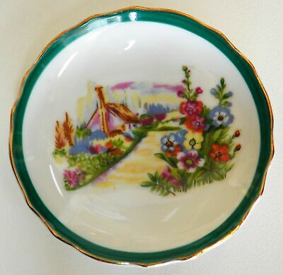 Pretty Unknown Small Display Plate Floral Garden Estate Item D7013