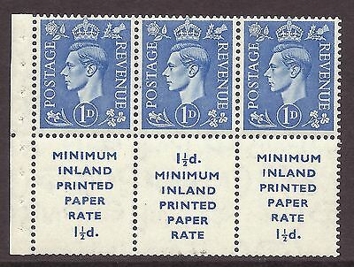 QB18 perf type Ie -1d Light Ultramarine Booklet pane with label UNMOUNTED MINT