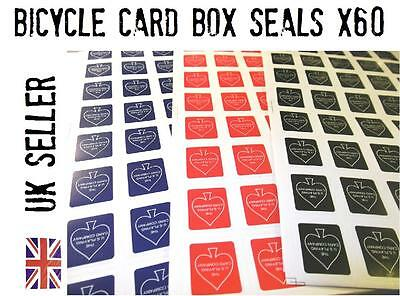 Bicycle CARD BOX SEALS x 60 close up magic