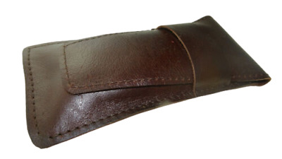 Real Leather Pen case 3-4 roller ballpoint fountain pens Hand crafted pouch UK