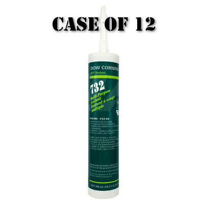 Dow Corning RTV732-10-10ZCL Multi-Purpose Sealant 300mL Tube Clear | Case of 12