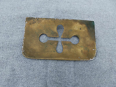 Antique Cast Brass Soap Dish Heavy Duty Industrial Steampunk Vtg Plumbing Old