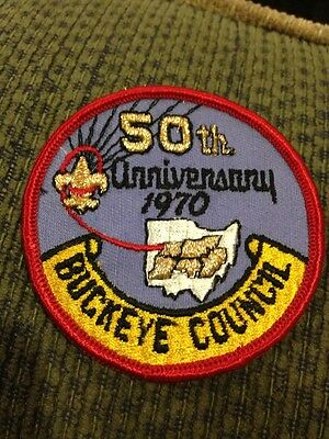 Older Buckeye Council Patch 50th Anniversary 1970