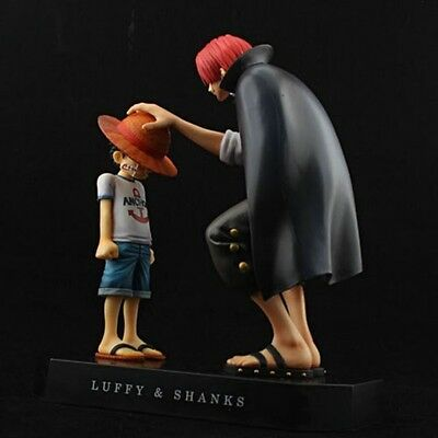 Anime One Piece Set of Memories Childhood Luffy & Shanks Promise PVC Figures