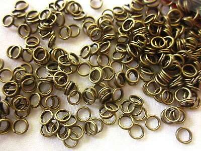 100 Split Rings 5x0.6mm Bronze Coloured #1616 Combine Postage-See Listing
