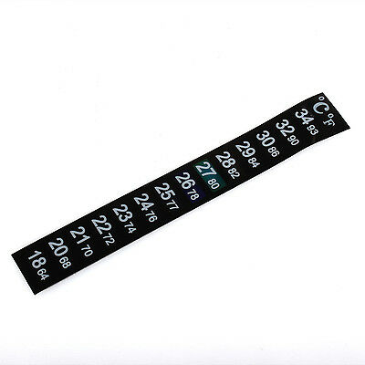Lcd Stick On Adhesive Strip Flat Thermometer For Fish Tank Aquarium Brew Window