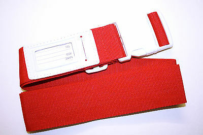 RED Suitcase/ Luggage Strap/ Belt 175cm~68.9 inch Adjustable BNIP