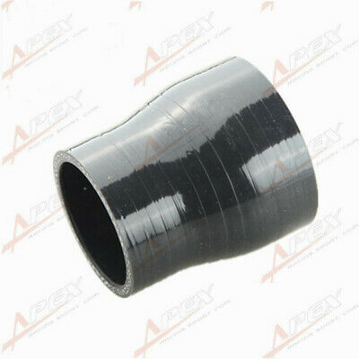 """3Ply 2.5"""" To 2'' Inch Straight Reducer 76.2mm Silicon Hose Coupler Pipe Black"""