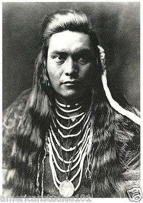 POSTCARD Nez Perce Lawyer Native American Indian Edward S. Curtis Photo