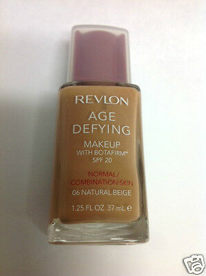 Revlon Age Defying With Botafirm Foundation SPF 20 NATURAL BEIGE #06 New.