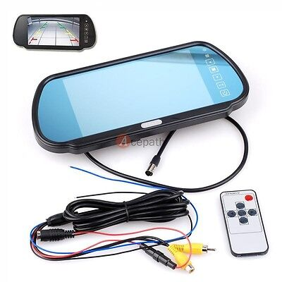 """7"""" TFT LCD Digital Screen Car Monitor Mirror for Backup Rear View Parking System"""