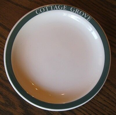 Syracuse, Cottage Grove, green restaurant ware, 2 BREAD PLATES, 6 1/4 in.