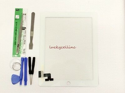 White Screen Glass Digitizer replacement for iPad 2 A1395 A1397 A1396 + Tools