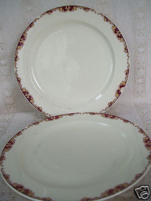 "Edwin M. Knowles China Plate Semi Vitreous Set Of Two 10 1/4"" Dinner Plates"