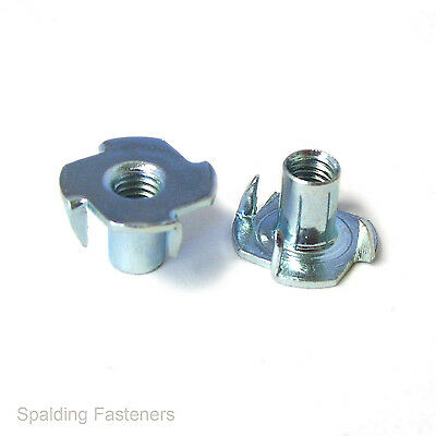 Metric Coarse Zinc Plated Steel Captive Pronged Tee Nuts - M3, M4, M5, M6 & M10