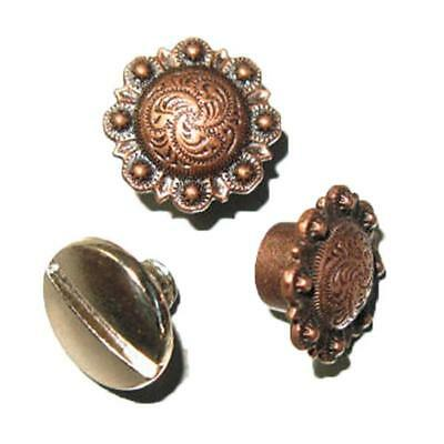Spiral Berry Concho - Antique Copper 10 Pack 3306-28