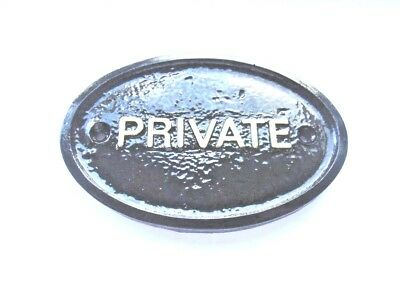 """private"" - House Door Plaque Wall/gate Sign Garden With Gold Raised Lettering"