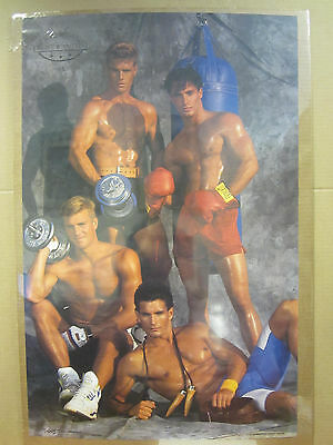 Vintage 1991 America's Most Wanted exercise poster hot guys    4783