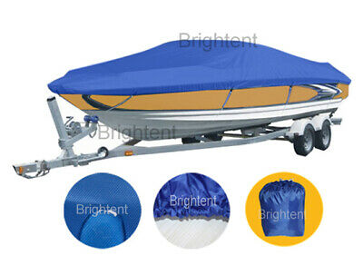 210D Marine Blue 17-19 ft Trailerable Boat Cover Waterproof UV Protector ZBT2N