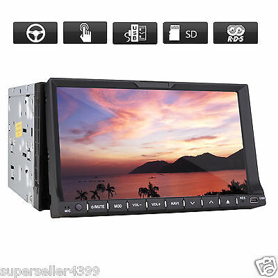 "7"" HD Double Din In-Dash Car DVD Player Bluetooth Radio Ipod TV MP3 Head Unit"