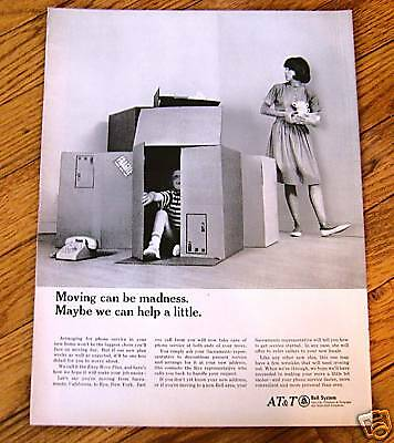 1966 Bell System AT & T Telephone Ad Moving Day Madness