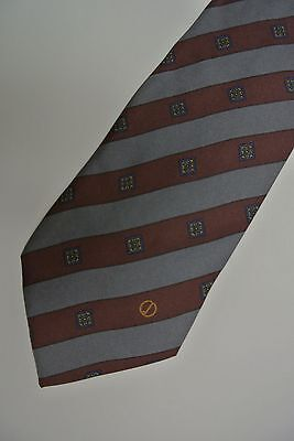 "Skinny Gray Striped DUNHILL Silk Tie.  MADE IN Italy  3.1"" Wide  57"" Long"