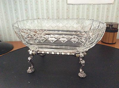 RARE HEISEY GLASS BOWL WITH STAND