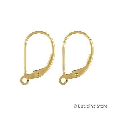 2 or 20 14ct Yellow Gold Filled Leverbacks Earwire Lever Backs Ear Wires Hooks