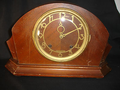 Old Vtg Wooden Seth Thomas Mantel Clock With Pendulum And Key San Francisco