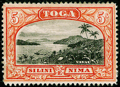TONGA SG53, 5s black & brown-red, M MINT. Cat £48.