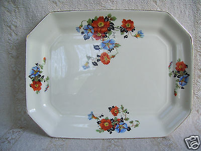 Antique Square Platter Golden Glo Glow American Dinnerware Pattern Limoges