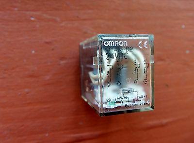 Omron MY4N-D2 Relay 24VDC Coil 14-Pin 4PDT 5 Amp