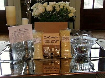 Chamomile and Lavender Organic Shea Butter Soap Kit 2 Lbs.