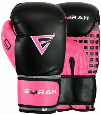 EMRAH Ladies Pro Boxing Gloves Bag Marital Arts MMA Womens Muay Thai Mitts Muai