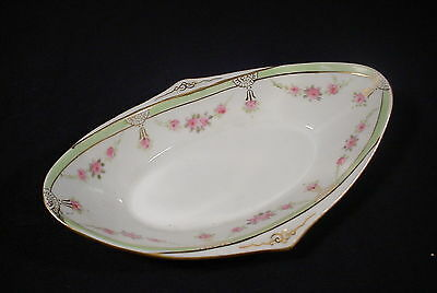 Vintage  Nippon Floral Condiment Dish Dainty ROSES