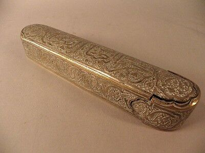 MIDDLE  EASTERN METAL PEN CASE   19TH CENTURY