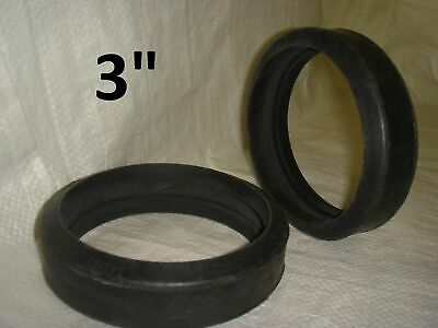 "Pack of 10 – 3"" Soft Rubber Gaskets for Concrete Pumps"