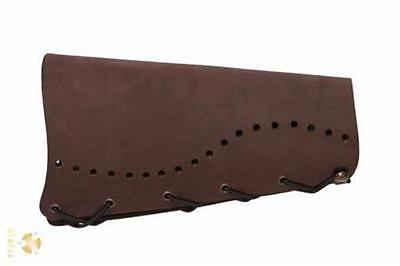 New Strele Archery Traditional Leather Arm Guard Armguard Bracer Brown longbow