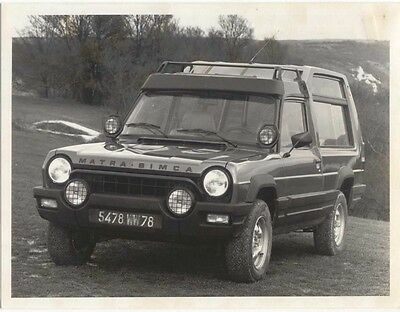 Chrysler Matra Rancho 2 Press Photographs LHD car
