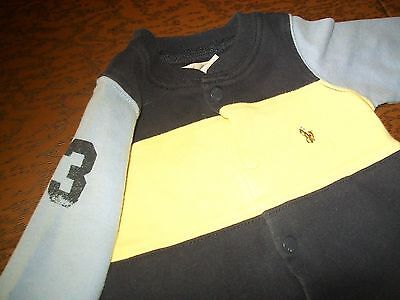 Ralph Lauren POLO baby boy one piece blue striped outfit