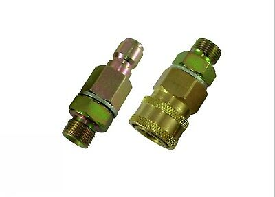 "Pressure Washer Quick Release 14.8mm Coupling - Pair 3/8""M"