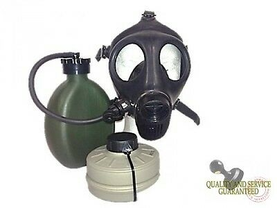 Free Ship Israeli Adult Gas Mask W/ Nato Filter And Hydration Canteen Free Ship
