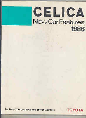 1986 Toyota USA Celica New Car Features Book Brochure I2999