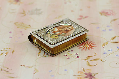 Book Shape Metal Rosary Box Case with Picture of ST. DYMPHNA