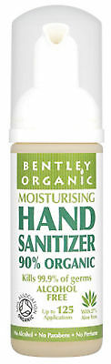 Bentley Organic Natural Hand Sanitiser with Organic Aloe Vera 50ml