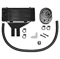 Jagg Horizontal Low-Mount Black Oil Cooler Kit 1991-Up Fxd Dyna 10 Row Harley