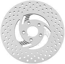 Swept Style Front Brake Disc Rotor Stainless Steel L/s 84-Up Harley Custom Use