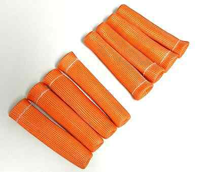 8 Orange 1200 Spark Plug Wire Boots Heat Shield Protector Sleeve Sbc Bbc 350 454