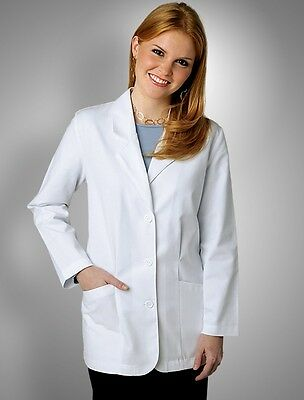 """30"""" Fitted Labcoat, Women Coat, Doctor's Jacket, White"""