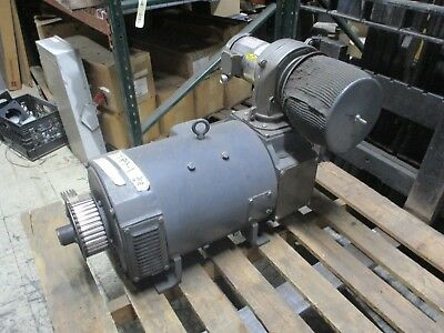 Baldor DC Motor with Blower 28800500178 30HP Tach Meter 5BC42AB2131A Used